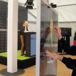 Eröffnung der ITS-Solarfabrik, Halle (Saale), 2011